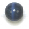 "Cat Eye Beads 8mm Round Navy Strand 16"" Fibre Optic"